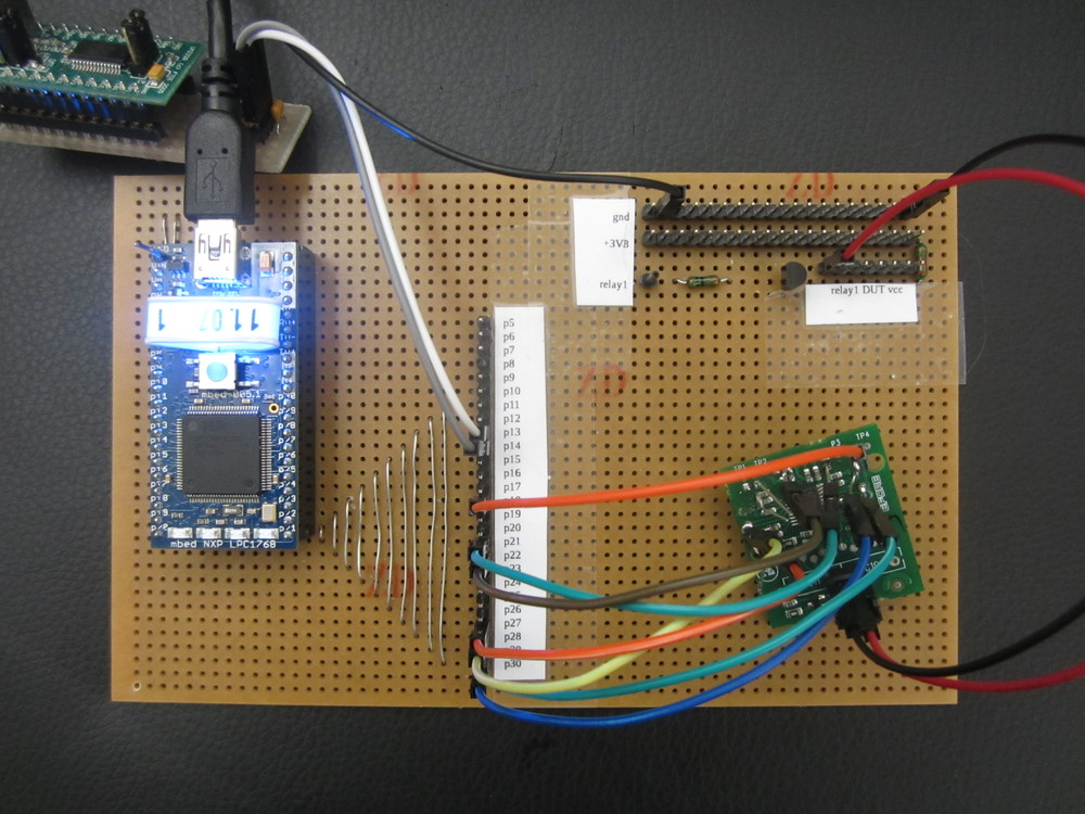Prototype testing of a microcontroller product with self-developed test system